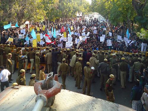 Modi srcc protest