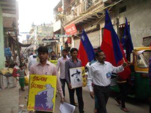 दिल्ली के खजूरी में अभियान